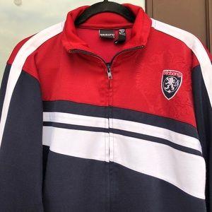 Billabong Red/White/Blue Warm-Up Jacket L